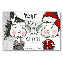 Premium Textil-Leinwand 90 x 60 cm Quer-Format Frohe Weihnachten CB   Wandbild, HD-Bild auf Keilrahmen, Fertigbild auf hochwertigem Vlies, Leinwanddruck von Claudia Burlager