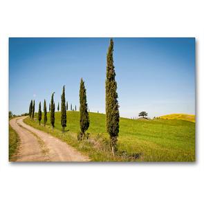 Premium Textil-Leinwand 90 x 60 cm Quer-Format Frühling in der Toskana – die Crete Senesi, Siena, Italien   Wandbild, HD-Bild auf Keilrahmen, Fertigbild auf hochwertigem Vlies, Leinwanddruck von CALVENDO