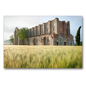 Premium Textil-Leinwand 90 x 60 cm Quer-Format Frühling in der Toskana – Foto eines stattlich historischen Denkmals   Wandbild, HD-Bild auf Keilrahmen, Fertigbild auf hochwertigem Vlies, Leinwanddruck von CALVENDO