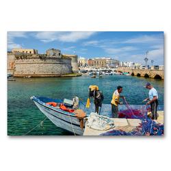 Premium Textil-Leinwand 90 x 60 cm Quer-Format Gallipoli | Wandbild, HD-Bild auf Keilrahmen, Fertigbild auf hochwertigem Vlies, Leinwanddruck von Martin Rauchenwald
