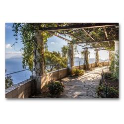 Premium Textil-Leinwand 90 x 60 cm Quer-Format Garten der Villa San Michele auf Capri, Italien | Wandbild, HD-Bild auf Keilrahmen, Fertigbild auf hochwertigem Vlies, Leinwanddruck von Christian Müringer