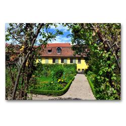 Premium Textil-Leinwand 90 x 60 cm Quer-Format Garten von Goethes Wohnhaus am Frauenplan | Wandbild, HD-Bild auf Keilrahmen, Fertigbild auf hochwertigem Vlies, Leinwanddruck von Pia Thauwald