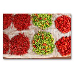 Premium Textil-Leinwand 90 x 60 cm Quer-Format Gemüse auf dem Markt in Abomey | Wandbild, HD-Bild auf Keilrahmen, Fertigbild auf hochwertigem Vlies, Leinwanddruck von Gabriele Gerner-Haudum