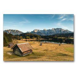 Premium Textil-Leinwand 90 x 60 cm Quer-Format Geroldsee Bayern | Wandbild, HD-Bild auf Keilrahmen, Fertigbild auf hochwertigem Vlies, Leinwanddruck von Bergpixel