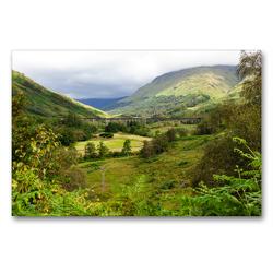 Premium Textil-Leinwand 90 x 60 cm Quer-Format Glenfinnan Viaduct – Glenfinnan | Wandbild, HD-Bild auf Keilrahmen, Fertigbild auf hochwertigem Vlies, Leinwanddruck von TJPhotography