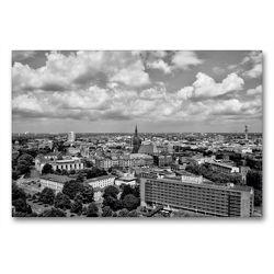 Premium Textil-Leinwand 90 x 60 cm Quer-Format Hannover von oben | Wandbild, HD-Bild auf Keilrahmen, Fertigbild auf hochwertigem Vlies, Leinwanddruck von kattobello