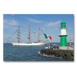 Premium Textil-Leinwand 90 x 60 cm Quer-Format Hanse-Sail | Wandbild, HD-Bild auf Keilrahmen, Fertigbild auf hochwertigem Vlies, Leinwanddruck von N N