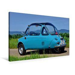 Premium Textil-Leinwand 90 x 60 cm Quer-Format Heinkel Kabinenroller Typ 154 | Wandbild, HD-Bild auf Keilrahmen, Fertigbild auf hochwertigem Vlies, Leinwanddruck von Ingo Laue