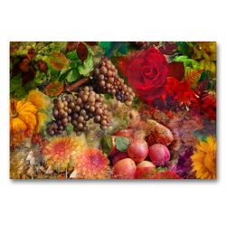 Premium Textil-Leinwand 90 x 60 cm Quer-Format Herbstsymphonie | Wandbild, HD-Bild auf Keilrahmen, Fertigbild auf hochwertigem Vlies, Leinwanddruck von Christine B-B Müller