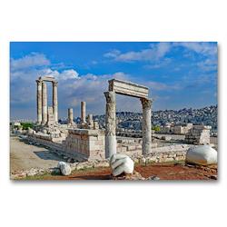 Premium Textil-Leinwand 90 x 60 cm Quer-Format Herkulestempel in Amman | Wandbild, HD-Bild auf Keilrahmen, Fertigbild auf hochwertigem Vlies, Leinwanddruck von Klaus Eppele