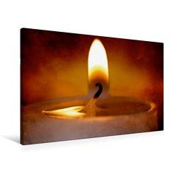 Premium Textil-Leinwand 90 x 60 cm Quer-Format Herziger Kerzenschein | Wandbild, HD-Bild auf Keilrahmen, Fertigbild auf hochwertigem Vlies, Leinwanddruck von Heike Hultsch von Hultsch,  Heike