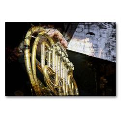 Premium Textil-Leinwand 90 x 60 cm Quer-Format Horn | Wandbild, HD-Bild auf Keilrahmen, Fertigbild auf hochwertigem Vlies, Leinwanddruck von Martina Marten