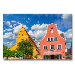 Premium Textil-Leinwand 90 x 60 cm Quer-Format Ingolstadt Impressionen | Wandbild, HD-Bild auf Keilrahmen, Fertigbild auf hochwertigem Vlies, Leinwanddruck von Dirk Meutzner