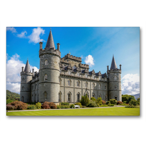 Premium Textil-Leinwand 90 x 60 cm Quer-Format Inveraray Castle am Loch Fyne | Wandbild, HD-Bild auf Keilrahmen, Fertigbild auf hochwertigem Vlies, Leinwanddruck von Holger John