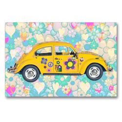 Premium Textil-Leinwand 90 x 60 cm Quer-Format Käfer in bunt   Wandbild, HD-Bild auf Keilrahmen, Fertigbild auf hochwertigem Vlies, Leinwanddruck von Liselotte Brunner-Klaus