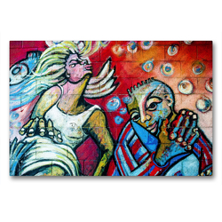 Premium Textil-Leinwand 90 x 60 cm Quer-Format Kiefernstrasse , Flingern-Süd | Wandbild, HD-Bild auf Keilrahmen, Fertigbild auf hochwertigem Vlies, Leinwanddruck von Michael Jaster Fotografie Düsseldorf