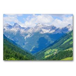Premium Textil-Leinwand 90 x 60 cm Quer-Format Kleinwalsertal in Österreich | Wandbild, HD-Bild auf Keilrahmen, Fertigbild auf hochwertigem Vlies, Leinwanddruck von Karin Sigwarth
