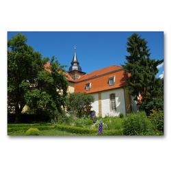 Premium Textil-Leinwand 90 x 60 cm Quer-Format Kloster Donndorf | Wandbild, HD-Bild auf Keilrahmen, Fertigbild auf hochwertigem Vlies, Leinwanddruck von Flori0