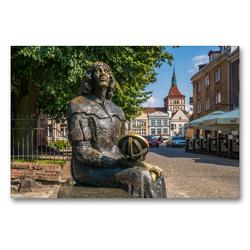 Premium Textil-Leinwand 90 x 60 cm Quer-Format Kopernikus in Allenstein | Wandbild, HD-Bild auf Keilrahmen, Fertigbild auf hochwertigem Vlies, Leinwanddruck von Peter Schickert