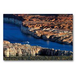 Premium Textil-Leinwand 90 x 60 cm Quer-Format Lakeshore Drive | Wandbild, HD-Bild auf Keilrahmen, Fertigbild auf hochwertigem Vlies, Leinwanddruck von Dieter-M. Wilczek