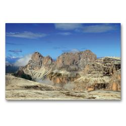 Premium Textil-Leinwand 90 x 60 cm Quer-Format Langkofel | Wandbild, HD-Bild auf Keilrahmen, Fertigbild auf hochwertigem Vlies, Leinwanddruck von Gerhard Albicker