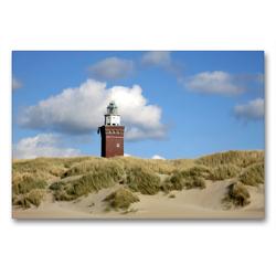 Premium Textil-Leinwand 90 x 60 cm Quer-Format Leuchtturm und Düne | Wandbild, HD-Bild auf Keilrahmen, Fertigbild auf hochwertigem Vlies, Leinwanddruck von Susanne Herppich