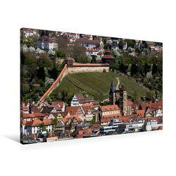 Premium Textil-Leinwand 90 x 60 cm Quer-Format Luftbild auf Burg und Stadtkirche | Wandbild, HD-Bild auf Keilrahmen, Fertigbild auf hochwertigem Vlies, Leinwanddruck von Horst Eisele