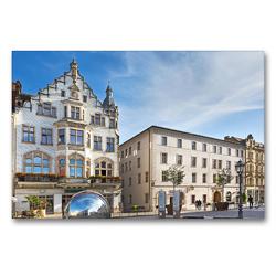 Premium Textil-Leinwand 90 x 60 cm Quer-Format Lutherstadt Wittenberg | Wandbild, HD-Bild auf Keilrahmen, Fertigbild auf hochwertigem Vlies, Leinwanddruck von U boeTtchEr