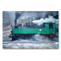 Premium Textil-Leinwand 90 x 60 cm Quer-Format Malletlok NWE11 mit Volldampf auf der Selketalbahn | Wandbild, HD-Bild auf Keilrahmen, Fertigbild auf hochwertigem Vlies, Leinwanddruck von Michael Bromm