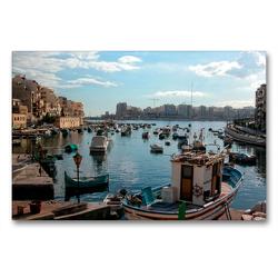 Premium Textil-Leinwand 90 x 60 cm Quer-Format Malta | Wandbild, HD-Bild auf Keilrahmen, Fertigbild auf hochwertigem Vlies, Leinwanddruck von joern stegen