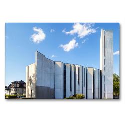 Premium Textil-Leinwand 90 x 60 cm Quer-Format Mannheim – Versöhnungskirche | Wandbild, HD-Bild auf Keilrahmen, Fertigbild auf hochwertigem Vlies, Leinwanddruck von Thomas Seethaler