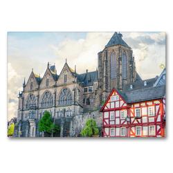 Premium Textil-Leinwand 90 x 60 cm Quer-Format Marburg Impressionen | Wandbild, HD-Bild auf Keilrahmen, Fertigbild auf hochwertigem Vlies, Leinwanddruck von Dirk Meutzner