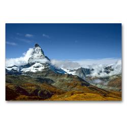 Premium Textil-Leinwand 90 x 60 cm Quer-Format Matterhorn | Wandbild, HD-Bild auf Keilrahmen, Fertigbild auf hochwertigem Vlies, Leinwanddruck von Astrid Ziemer