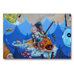 Premium Textil-Leinwand 90 x 60 cm Quer-Format Meresmotiv für Kids | Wandbild, HD-Bild auf Keilrahmen, Fertigbild auf hochwertigem Vlies, Leinwanddruck von SchnelleWelten