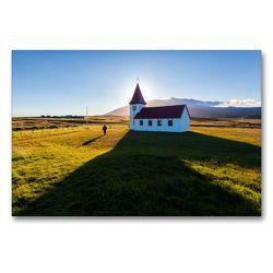 Premium Textil-Leinwand 90 x 60 cm Quer-Format Mitternachtssonne | Wandbild, HD-Bild auf Keilrahmen, Fertigbild auf hochwertigem Vlies, Leinwanddruck von Andreas Klesse
