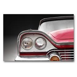 Premium Textil-Leinwand 90 x 60 cm Quer-Format Motiv US Oldtimer CORONET 1958 aus dem Kalender US Klassiker 1956 bis 1966 von Beate Gube Kühlergrill eines klassischen Automobils Oldtimer | Wandbild, HD-Bild auf Keilrahmen, Fertigbild auf hochwertigem Vlies, Leinwanddruck von Beate Gube