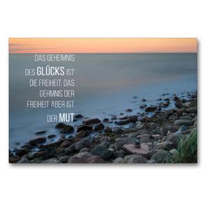 Premium Textil-Leinwand 90 x 60 cm Quer-Format Motivation und Meer   Wandbild, HD-Bild auf Keilrahmen, Fertigbild auf hochwertigem Vlies, Leinwanddruck von Dirk Meutzner