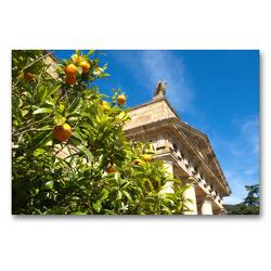 Premium Textil-Leinwand 90 x 60 cm Quer-Format Napoleons Residenz auf der Insel Elba | Wandbild, HD-Bild auf Keilrahmen, Fertigbild auf hochwertigem Vlies, Leinwanddruck von Walter J. Richtsteig