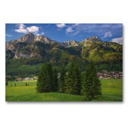 Premium Textil-Leinwand 90 x 60 cm Quer-Format Nesselwängle   Wandbild, HD-Bild auf Keilrahmen, Fertigbild auf hochwertigem Vlies, Leinwanddruck von Steffen Gierok