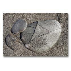 Premium Textil-Leinwand 90 x 60 cm Quer-Format Neuseelands Steine | Wandbild, HD-Bild auf Keilrahmen, Fertigbild auf hochwertigem Vlies, Leinwanddruck von Flori0