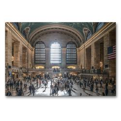 Premium Textil-Leinwand 90 x 60 cm Quer-Format New York – Von Brooklyn zur Grand Central Station | Wandbild, HD-Bild auf Keilrahmen, Fertigbild auf hochwertigem Vlies, Leinwanddruck von Michael Ermel