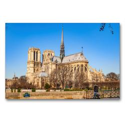 Premium Textil-Leinwand 90 x 60 cm Quer-Format Notre-Dame de Paris   Wandbild, HD-Bild auf Keilrahmen, Fertigbild auf hochwertigem Vlies, Leinwanddruck von Alessandro Tortora