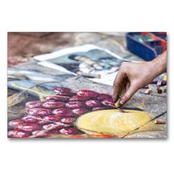 Premium Textil-Leinwand 90 x 60 cm Quer-Format Obstkorb   Wandbild, HD-Bild auf Keilrahmen, Fertigbild auf hochwertigem Vlies, Leinwanddruck von Andreas Klesse