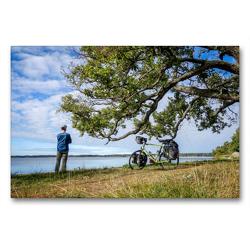 Premium Textil-Leinwand 90 x 60 cm Quer-Format Ostsee Radreise: Naturreservat Kungshamn-Morga, Schweden (Uppsala Iän) | Wandbild, HD-Bild auf Keilrahmen, Fertigbild auf hochwertigem Vlies, Leinwanddruck von Bernd Schadowski