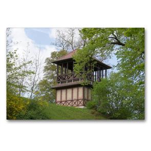 Premium Textil-Leinwand 90 x 60 cm Quer-Format Pagode im Schlosspark   Wandbild, HD-Bild auf Keilrahmen, Fertigbild auf hochwertigem Vlies, Leinwanddruck von Kattobello