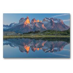 Premium Textil-Leinwand 90 x 60 cm Quer-Format Patagonien & Feuerland | Wandbild, HD-Bild auf Keilrahmen, Fertigbild auf hochwertigem Vlies, Leinwanddruck von Christian Heeb