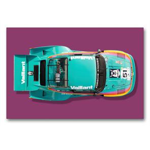 Premium Textil-Leinwand 90 x 60 cm Quer-Format Porsche 935 K2, 1977 | Wandbild, HD-Bild auf Keilrahmen, Fertigbild auf hochwertigem Vlies, Leinwanddruck von Bernhard Schmerl
