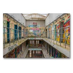 Premium Textil-Leinwand 90 x 60 cm Quer-Format Prison 15H | Wandbild, HD-Bild auf Keilrahmen, Fertigbild auf hochwertigem Vlies, Leinwanddruck von Industrieller