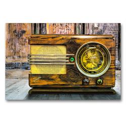 Premium Textil-Leinwand 90 x 60 cm Quer-Format Radio Ingelen | Wandbild, HD-Bild auf Keilrahmen, Fertigbild auf hochwertigem Vlies, Leinwanddruck von Herzog von Laar am Rhein
