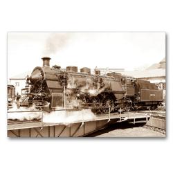 Premium Textil-Leinwand 90 x 60 cm Quer-Format REGLER AUF – Schmalspur- und Länderbahnlokomotiven   Wandbild, HD-Bild auf Keilrahmen, Fertigbild auf hochwertigem Vlies, Leinwanddruck von N N